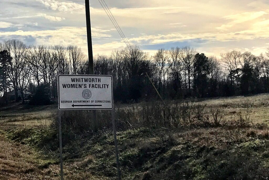 Sign for Whitworth Women's Facility