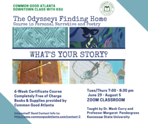Poster for next class The Odyssey: Finding Home